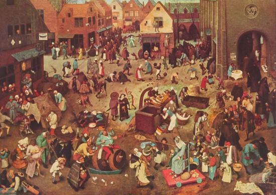 El combate entre don Carnal y doña Cuaresma - Pieter Brueghel el Viejo 1559