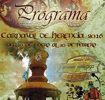 Programa de actos del carnaval de Herencia 2016