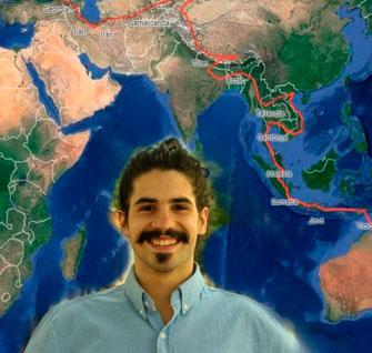 De Herencia a Nueva Zelanda, el viaje en bicicleta del carismático Perlé