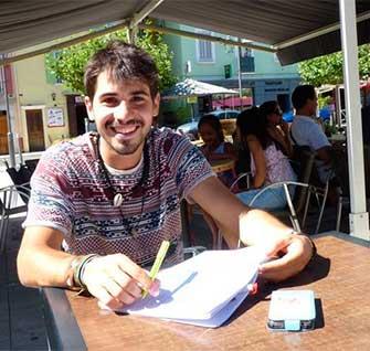 Elias Escribano, il parcourt le monde à vélo