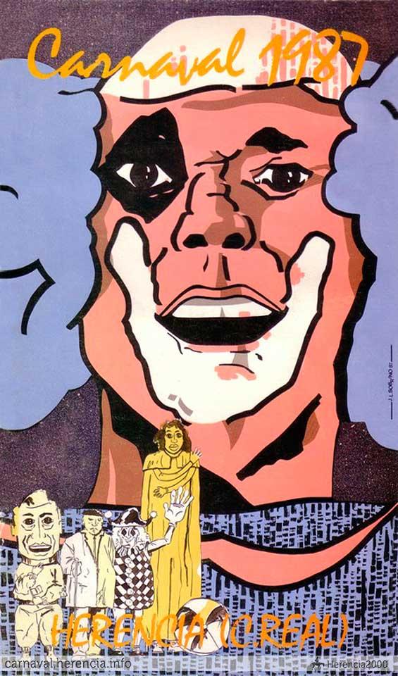 Cartel del carnaval de herencia de 1987