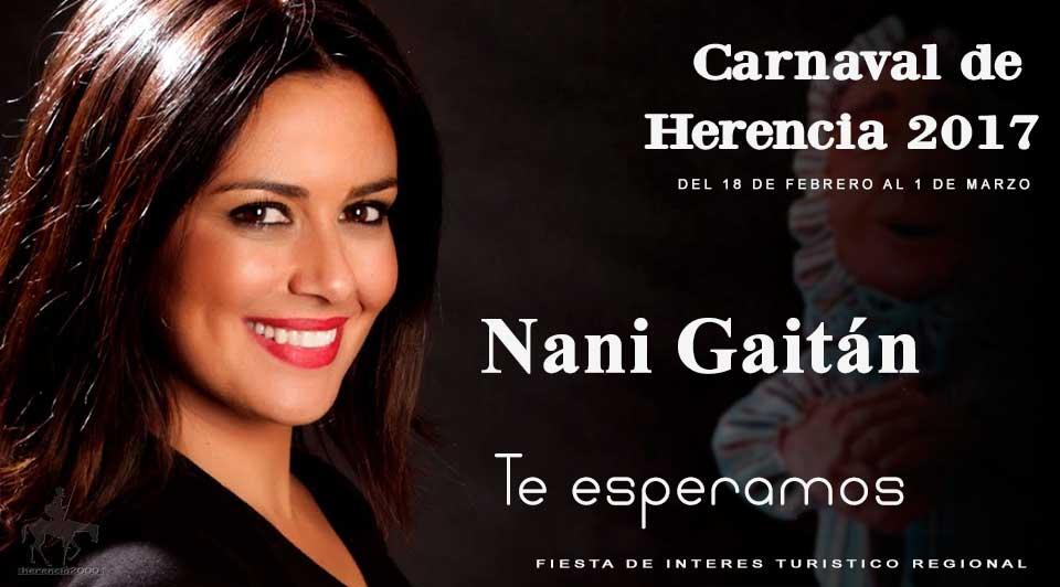 Nani Gaitán, pregonera del Carnaval de Herencia 2107