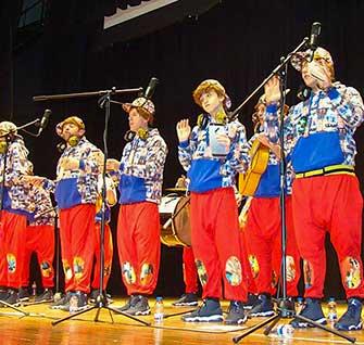 Los Pelendengues en el Carnaval de Quintanar