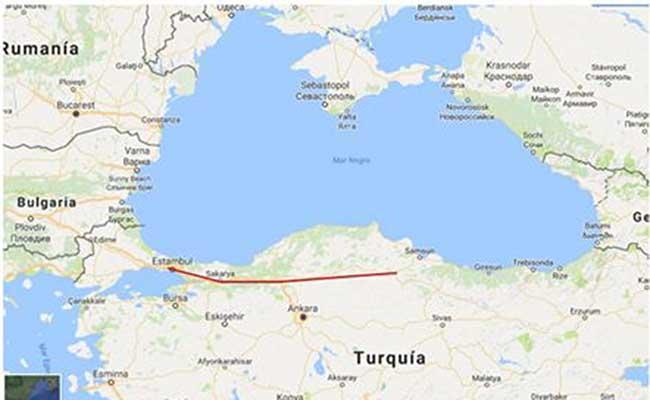 Perlé atravesando la Península de Anatolia