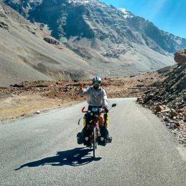 Perlé  superando las cimas himalayas.