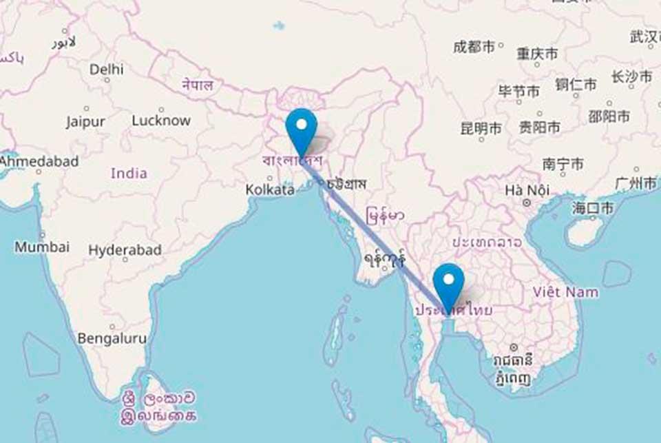 vuelo hacia Tailandia