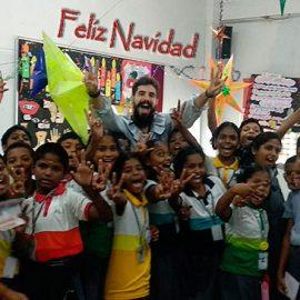 Elías García-Escribano Tajuelo, nos desea Feliz Navidad desde Gokarna – India
